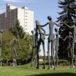 Sculpture in Calgary — Stock Photo