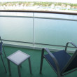 Stock Photo: Balcony of Cruise Ship Cabin