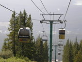 Lake Louise Gondola and Chairlifts in Banff National Park, Alberta, Canada — Stock Photo