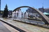 Confederation Arch Fountain in Kingston — Stock Photo