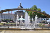 Confederation Arch Fountain in Kingston, Ontario in Canada — Stock Photo