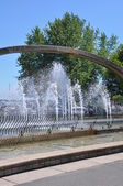 Confederation Arch Fountain in Kingston, Ontario in Canada — 图库照片