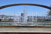 Confederation Arch Fountain in Kingston, Ontario in Canada — Stock Photo
