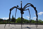 Spider sculpture in front the National Gallery of Canada in Ottawa, Canada — Foto Stock