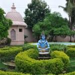 Statue of Hindu Lord Krishna at Shree Swaminarayan Gurukul in Hyderabad, India — Stock Photo #13975004