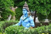 Statue of Hindu Lord Krishna at Shree Swaminarayan Gurukul in Hyderabad, India — Stock Photo