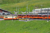 Train to Jungfraujoch in Switzerland — Stock Photo