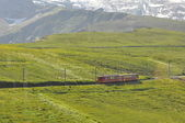 Train to Jungfraujoch in Switzerland — Stock Photo