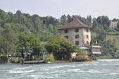 Rhine River in Switzerland — Stock Photo
