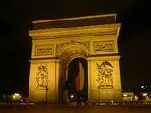 Arc de triomphe em paris — Foto Stock