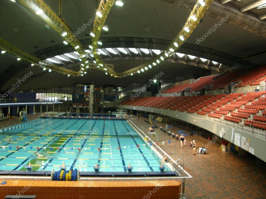 Swimming Pool At The Olympic Stadium In Montreal Quebec Canada Stock Photo Sainaniritu