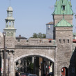 Stock Photo: Gates of the Fortress at Place d'Youville in Quebec City