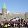 Stock Photo: Fortress at Place d'Youville in Quebec City