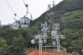 Cable Cars at Ocean Park in Hong Kong — Стоковое фото