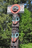 Totem Poles in Vancouver, Canada — Stock Photo