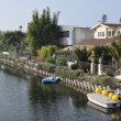 Venice Canals in Los Angeles - Stock Photo