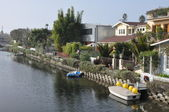 Venice Canals in Los Angeles — Stock Photo