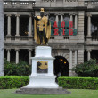 King Kamehameha Statue in Oahu, Hawaii - Stock Photo