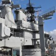 USS Missouri Battleship at Pearl Harbor - Stock Photo