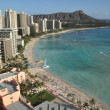 Waikiki Beach in Hawaii — Stock Photo