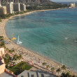 Waikiki Beach in Hawaii - Stock Photo