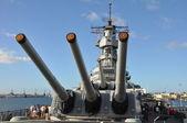 USS Missouri Battleship at Pearl Harbor — Stock Photo