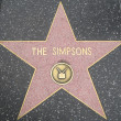 Simpsons' Star at Hollywood Walk of Fame — Stock Photo #29285669
