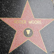 Roger Moore's Star at the Hollywood Walk of Fame — Stock Photo
