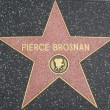 Pierce Brosnan's Star at the Hollywood Walk of Fame — Stock Photo