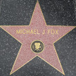 Michael J Fox's Star at the Hollywood Walk of Fame — Stock Photo