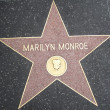 Marilyn Monroe's Star at the Hollywood Walk of Fame — Stock Photo