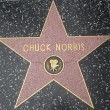 Chuck Norris' Star at the Hollywood Walk of Fame — Stock Photo