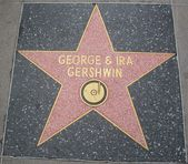 George & Ira Gershwin's Star at the Hollywood Walk of Fame — Stock fotografie