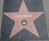 Rose Marie's Star at the Hollywood Walk of Fame — Stock fotografie