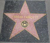 Farrah Fawcett's Star at the Hollywood Walk of Fame — Stock Photo