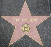 The Simpsons' Star at the Hollywood Walk of Fame — Stockfoto