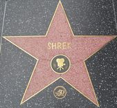 Shrek's Star at the Hollywood Walk of Fame — Stock Photo