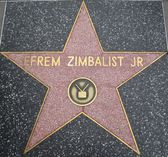 Efrem Zimbalist Jr's Star at the Hollywood Walk of Fame — Stock Photo
