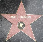 Matt Damon's Star at the Hollywood Walk of Fame — Stock Photo