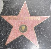 Michelle Pfeiffer's Star at the Hollywood Walk of Fame — 图库照片