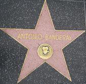 Antonio Banderas' Star at the Hollywood Walk of Fame — Stock Photo