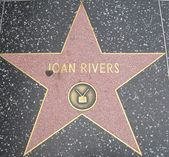 Joan Rivers' Star at the Hollywood Walk of Fame — Stock Photo