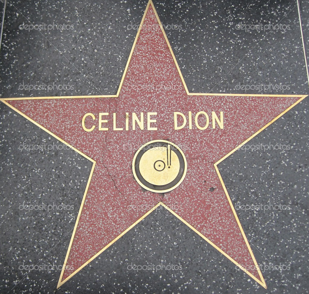 Celine Dion's S... Hollywood Walk Of Fame Stars Michael Jackson