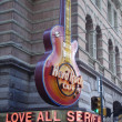 Постер, плакат: Hard Rock Cafe guitar signage in Philadelphia