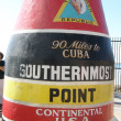 Southernmost Point marker in Key West, Florida — Stock Photo