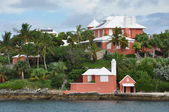Bunten häuser in bermuda — Stockfoto