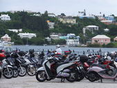 Scooters in Bermuda — Stock Photo