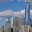 Lower Manhattan Skyline with One World Trade Center — Stock Photo