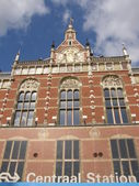 Central Station in Amsterdam — Stock Photo