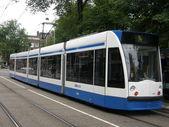 Straßenbahn in amsterdam — Stockfoto